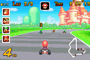 Peach Circuit - Mario Racing - Mario Kart Super Circuit