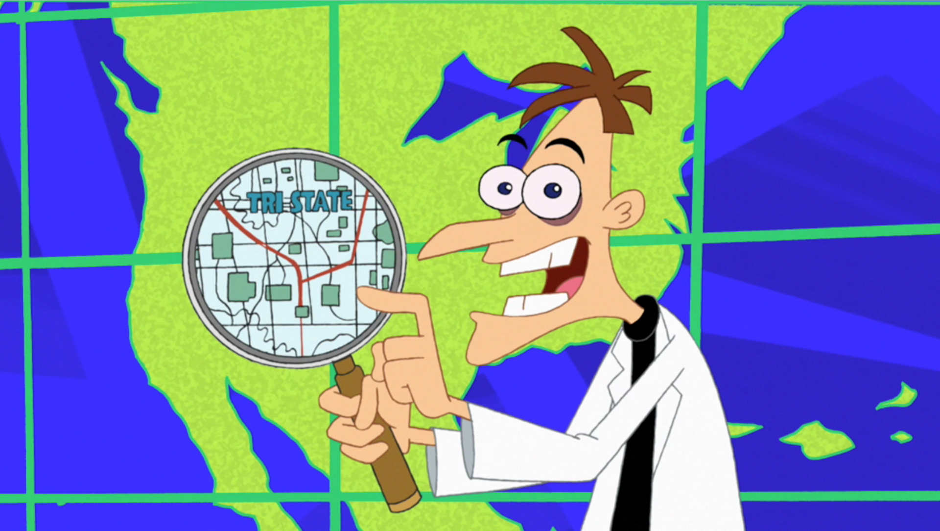 Tri State Area map Phineas and Ferb New Inventions [PC]