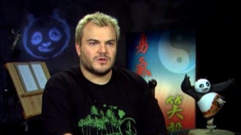 "Kung Fu Panda (2008) - Interview Jack Black ""On Po being a great character"""