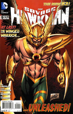 Cover for Savage Hawkman #9