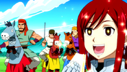 Bandits arrive before Erza