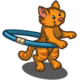 Hula Hoop Cat-icon