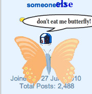 Someoneelse is afrad of butterflys