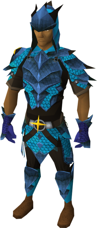Full saradomin d'hide equipped male