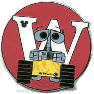 W Wall-E Pin