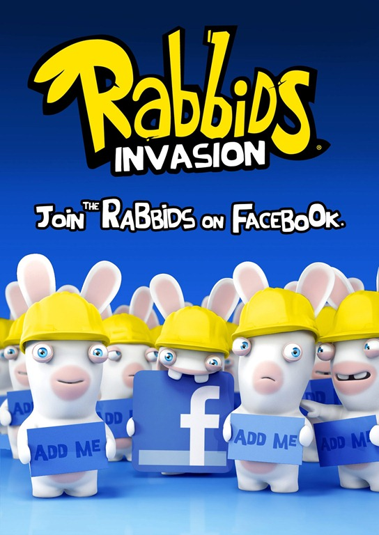 The cartoon rabbids first seen on rayman raving rabbids tv party