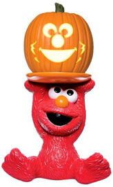 Paper magic group elmo pumpkin stand