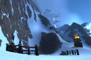 Neverest Basecamp snowfall screenshot