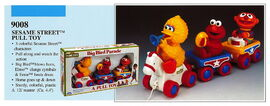 Illco 1992 preschool toys big bird parade pull toy