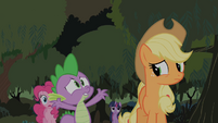 Spike believes Fluttershy spontaneously exploded S01E15