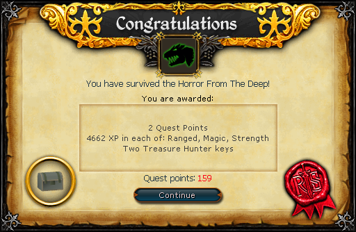 Horror from the Deep Reward