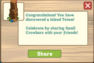 Island Totem Small Buried Treasure