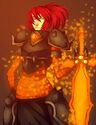Molten armor and sword