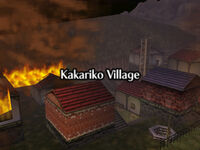 Villa Kakariko Ardiendo OoT