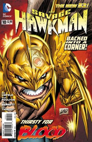 Cover for Savage Hawkman #10