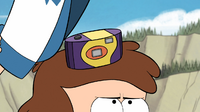 S1e2 camera under dipper's hat