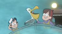 S1e2 mabel touching pelican