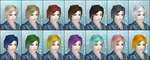DW6E Female Hair Color Parts