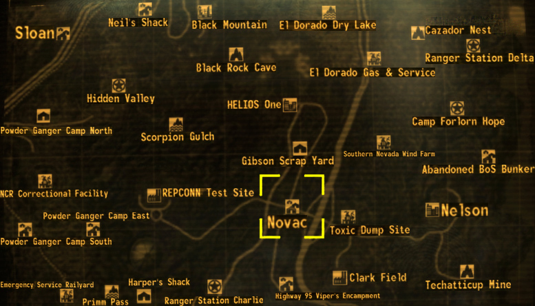Novac The Fallout wiki Fallout New Vegas and more