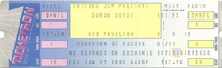 UIC PAVILION IN CHICAGO, ILLINOIS ON JANUARY 27, 1989. wikipedia duran duran