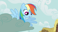 Rainbow Dash looking at CMC S2E23