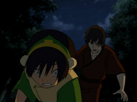 Zuko follows Toph