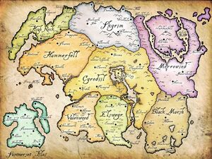 Map tamriel