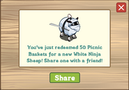 White Ninja Sheep Redeemed