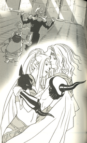 FFIV Novel Art 10 - Lovers Reunited