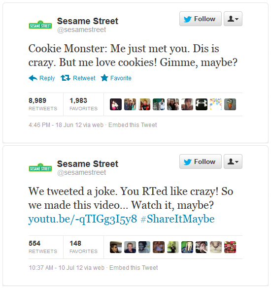 Sesame twitter share it maybe