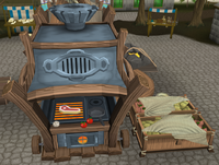 Gielinor Games preparation kitchen