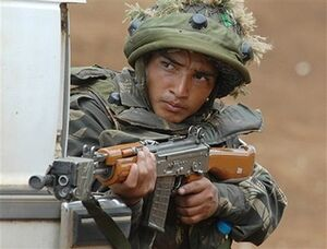 Indian Hurian soldier training