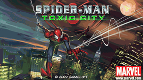 Spiderman Toxic city logo