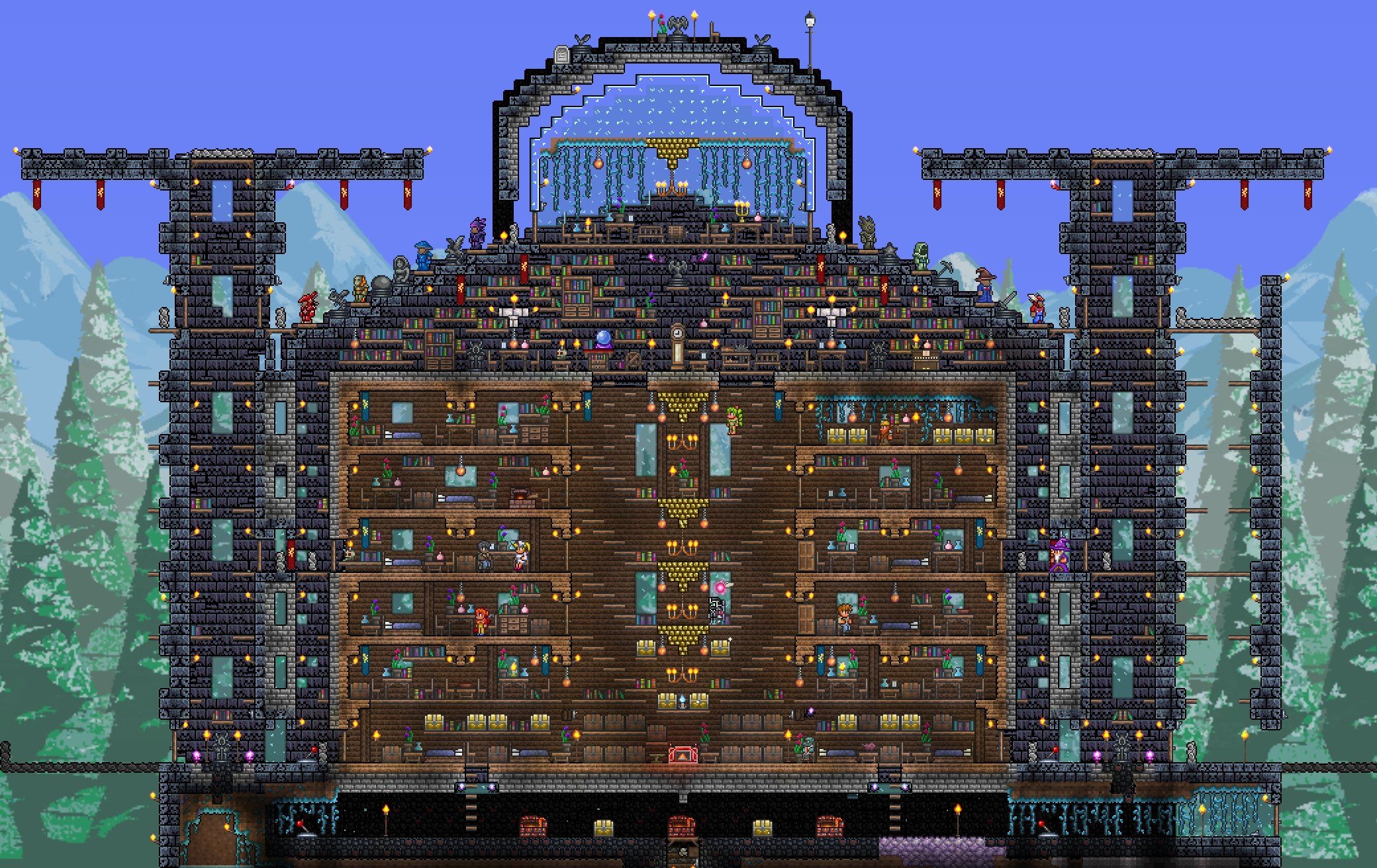 terraria how to build a cool house