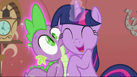 Twilight hugging Spike S2E02