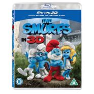 The Smurfs Blu-ray 3D UK cover