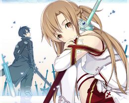Kirito and Asuna by Feal87