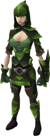 Green dragonhide armour female