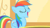 Rainbow Dash opening mouth S1E25