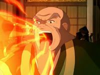 Iroh's fire breath