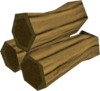 Mahogany pyre logs detail