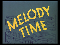 Melody time title card