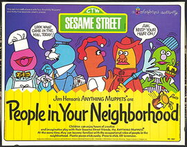 People neighborhood colorforms