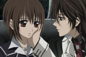 Kaname and Yuki Sitting Together