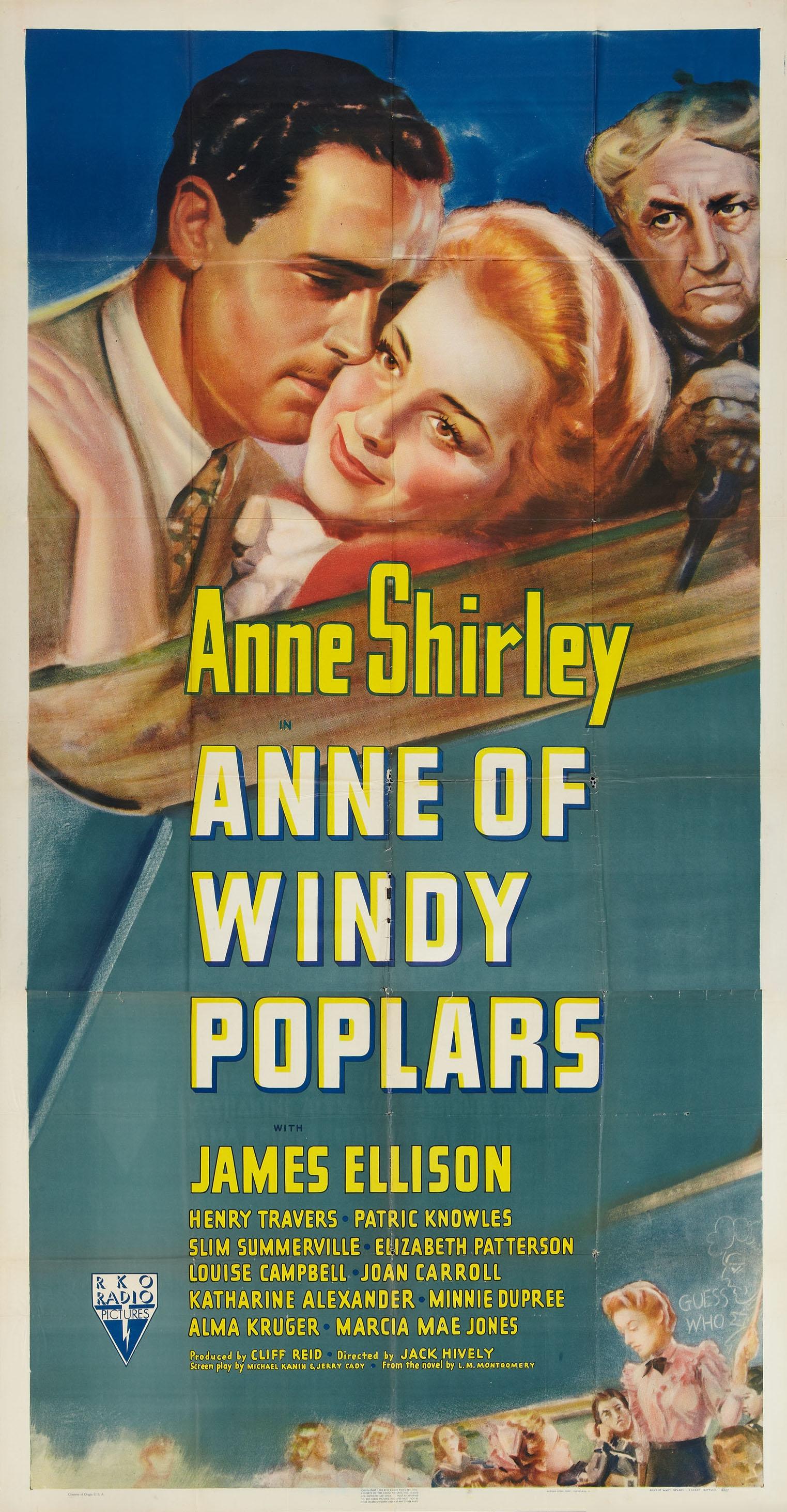 Anne Of Windy Poplars 1940 Stars Anne Shirley James Ellison