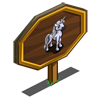 White Unicorn Foal Mastery Sign-icon