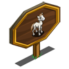 White Mustang Foal Mastery Sign-icon