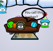 Black puffle template