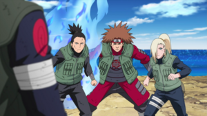 Ino Shika Cho vs. Asuma