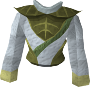 Third-age druidic robe top detail